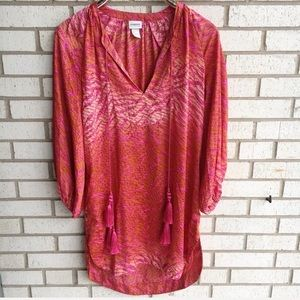 Conscious Collection Boho Tunic Dress Pink Red 6